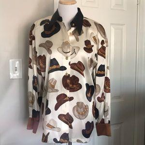 Authentic Vintage Esacada Silk Blouse